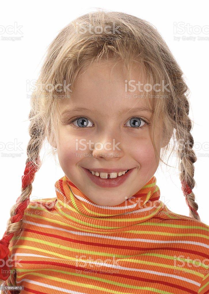 Merry girl. royalty-free stock photo