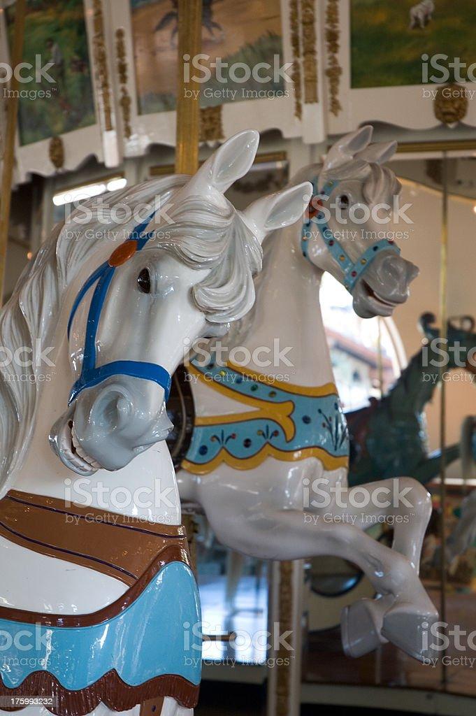 Cavalli Merry Go Round foto stock royalty-free