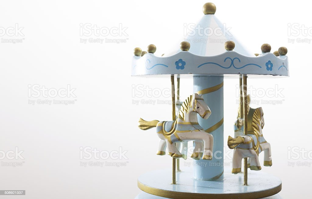 Merry go round music box stock photo