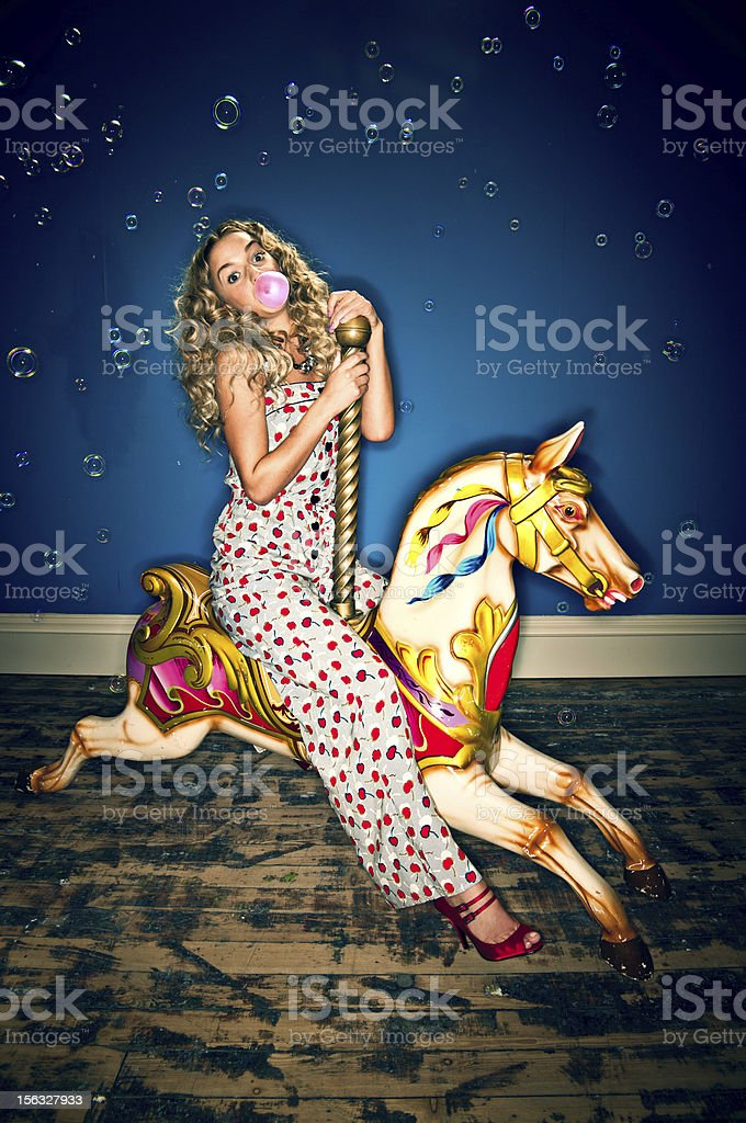 Merry go round stock photo