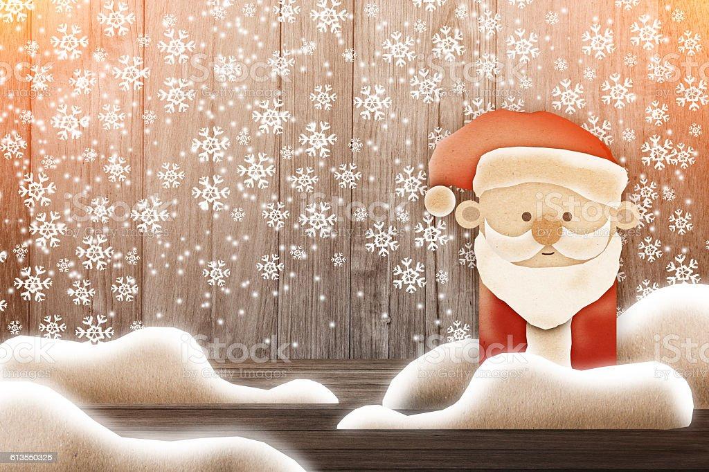 Merry Santa Claus standing stock photo