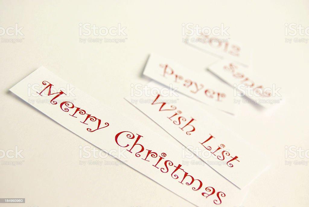 Merry Xmas 2012 theme stock photo