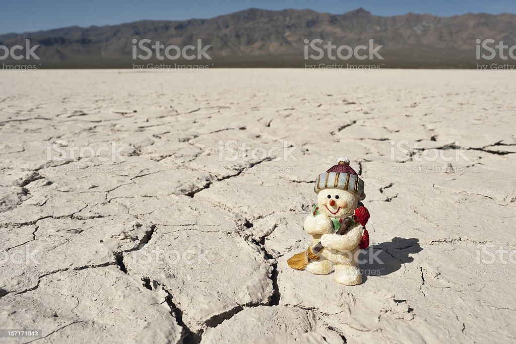 Merry X-Mas from the Nevada Desert stock photo