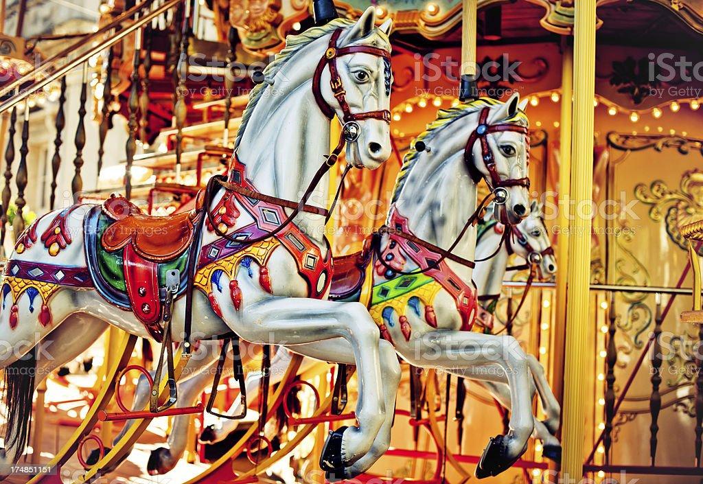 Merry-go-around royalty-free stock photo