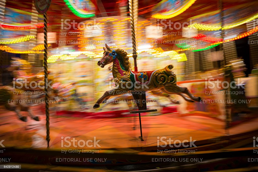 Merry-go-round in London, England stock photo