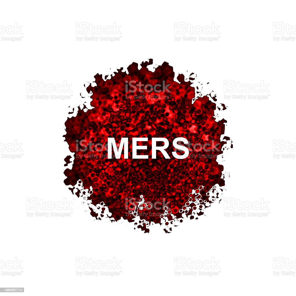 Mers Corona Virus, MERS-COV isolated on white background stock photo