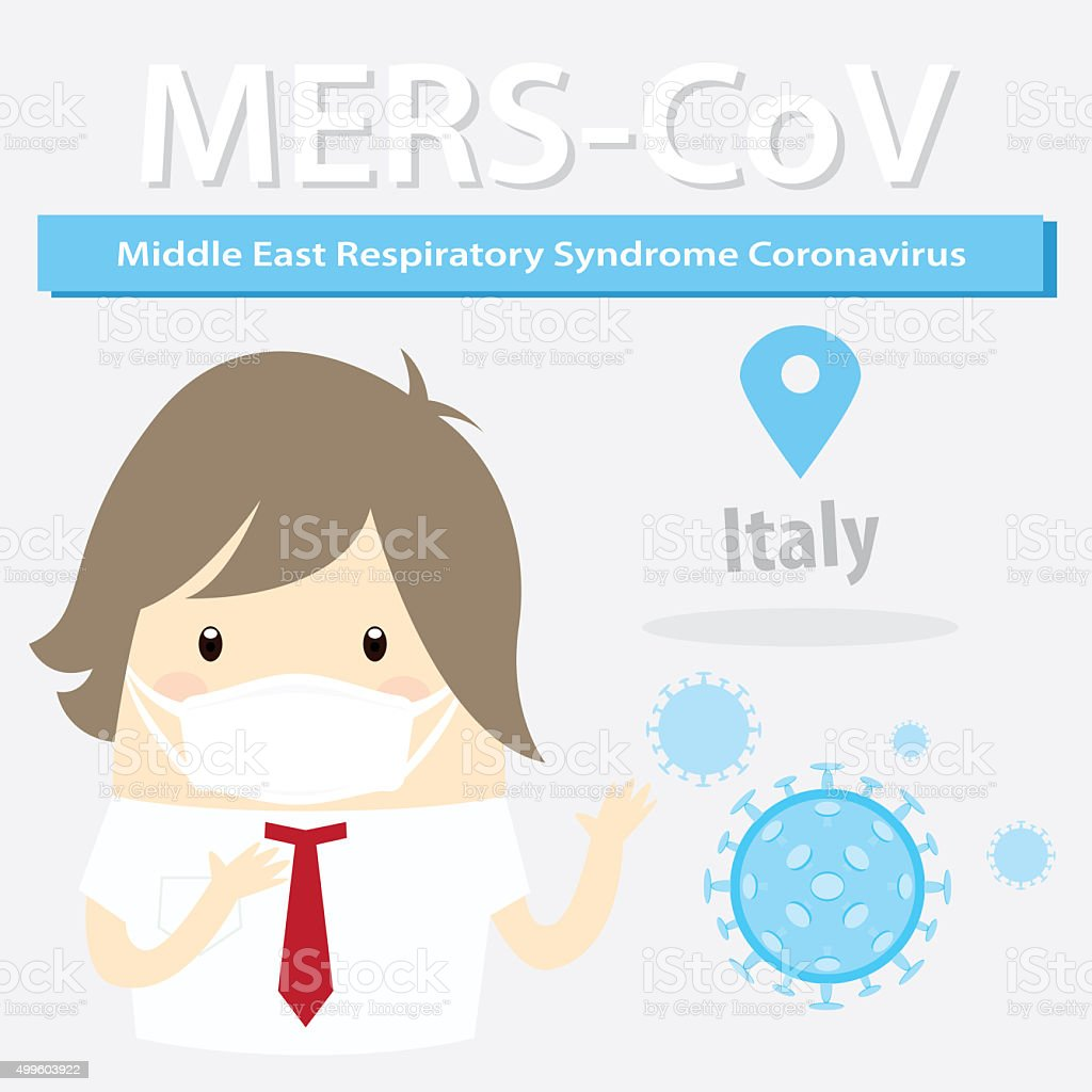 Mers-CoV (Middle East respiratory syndrome coronavirus), busines stock photo