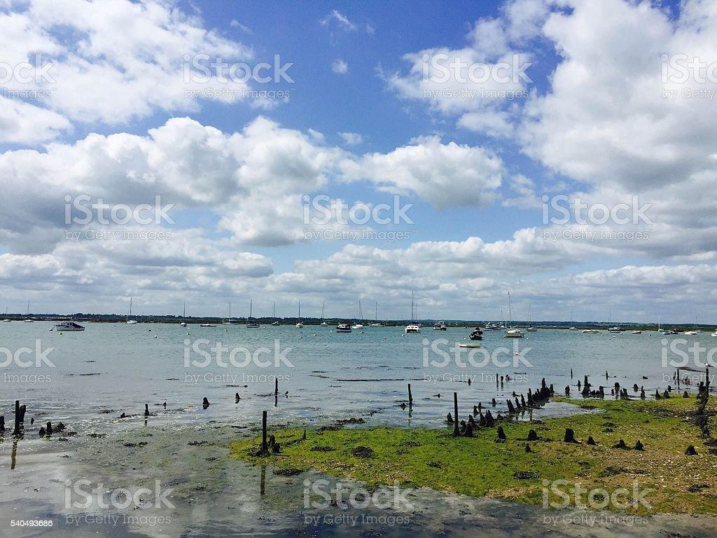 Mersea island estuary stock photo