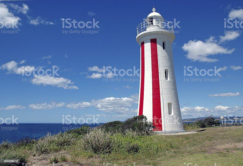 Mersey Bluff Lighthouse in Tasmania, Australia stock photo