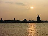 Mersey River Sunset - Liverpool