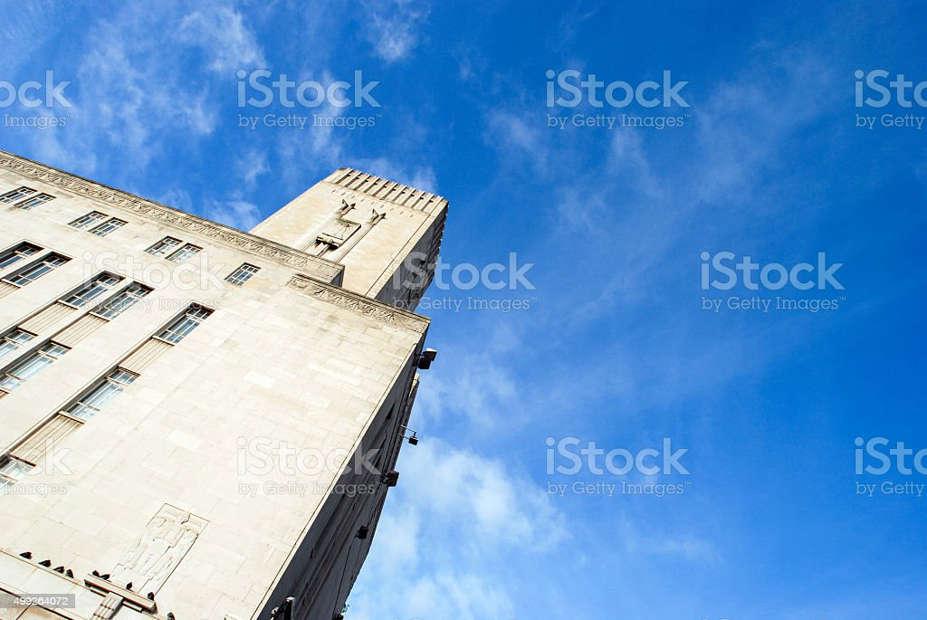 Mersey Tunnel tower building in Liverpool stock photo