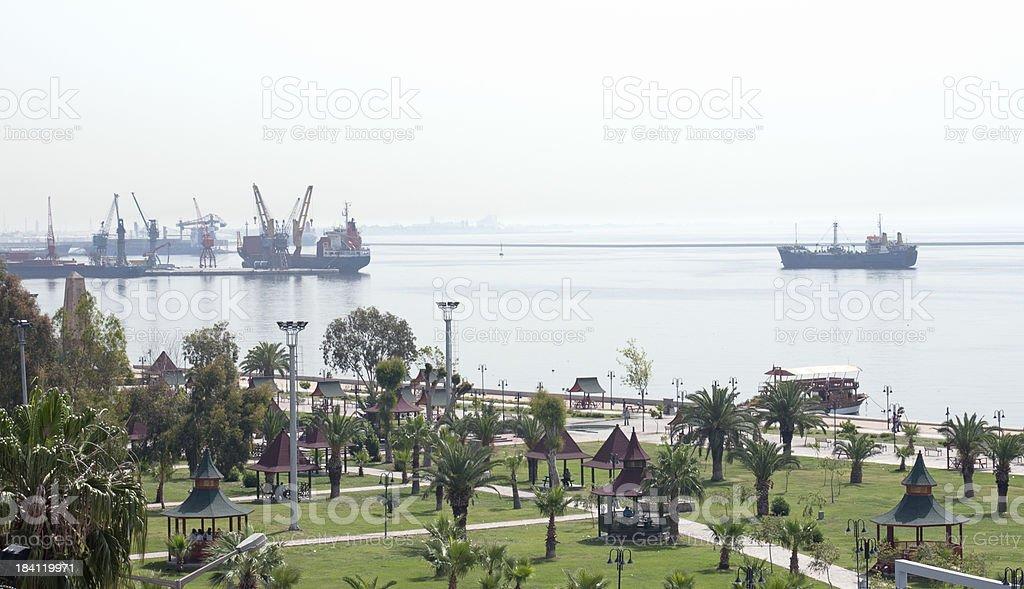 Mersin, port city in Turkey. stock photo