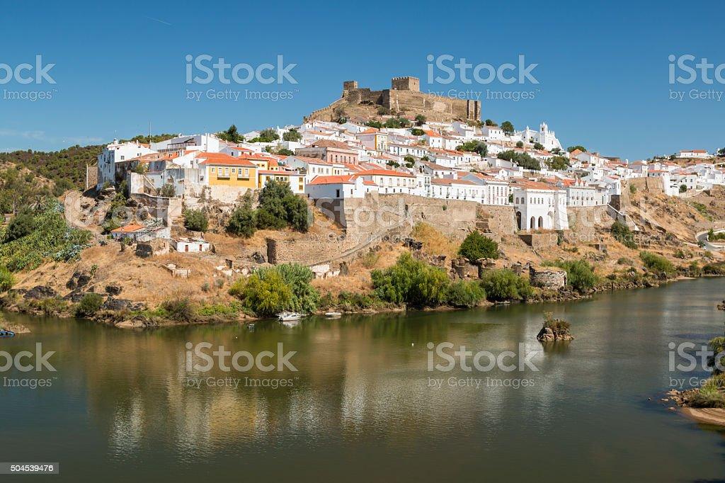 Mertola Town in Portugal stock photo