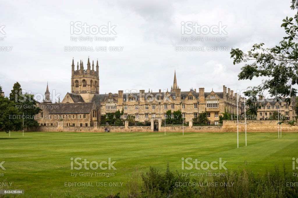 Merton College Campus in Oxford stock photo