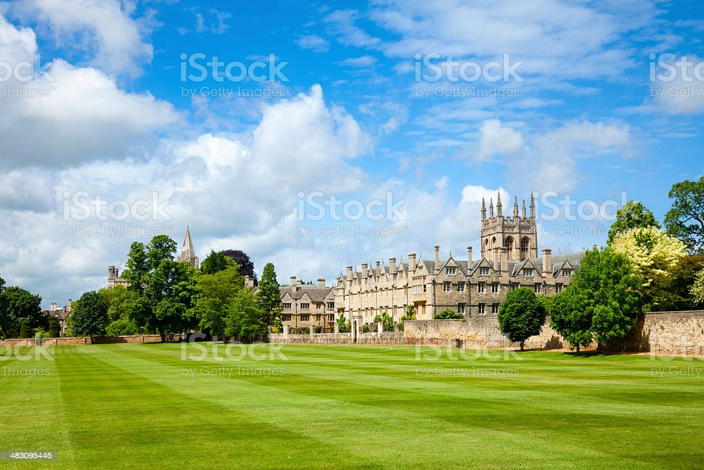 Merton College in Oxford stock photo