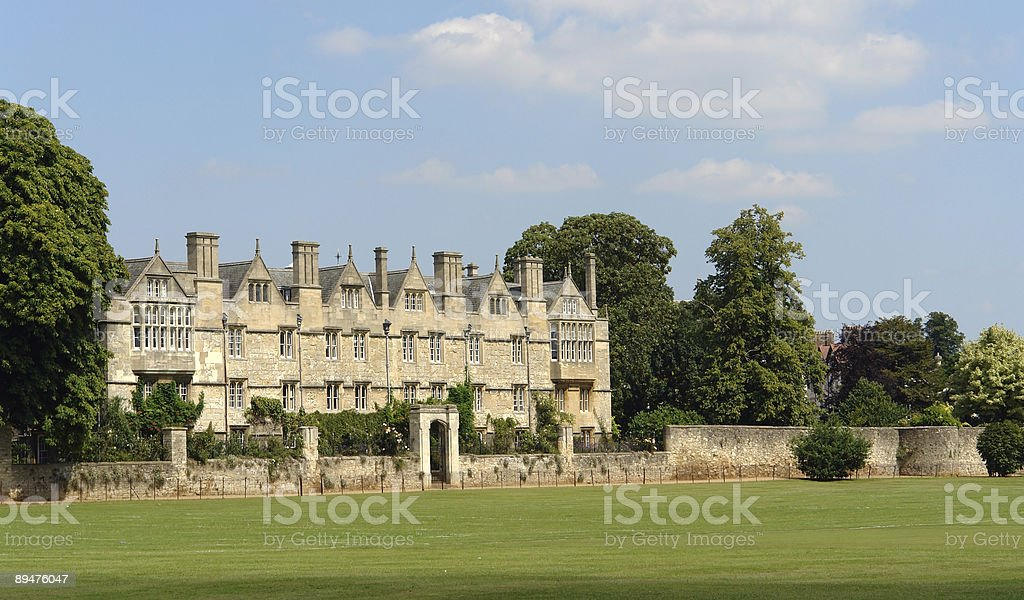 Merton College in Oxford royalty-free stock photo