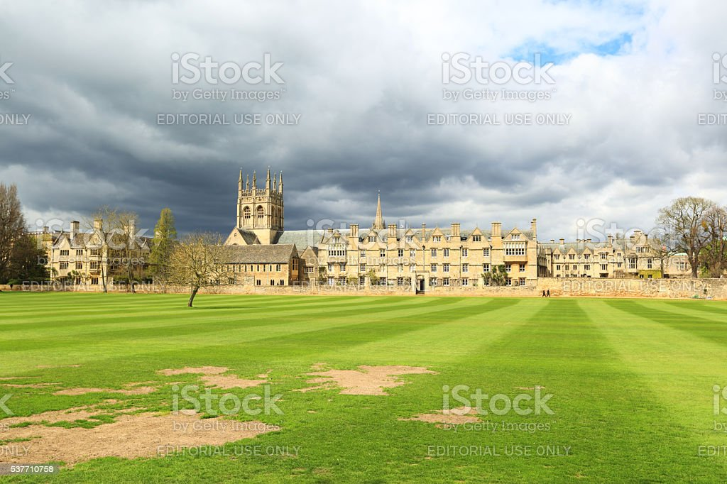 Merton College in Oxford, UK stock photo