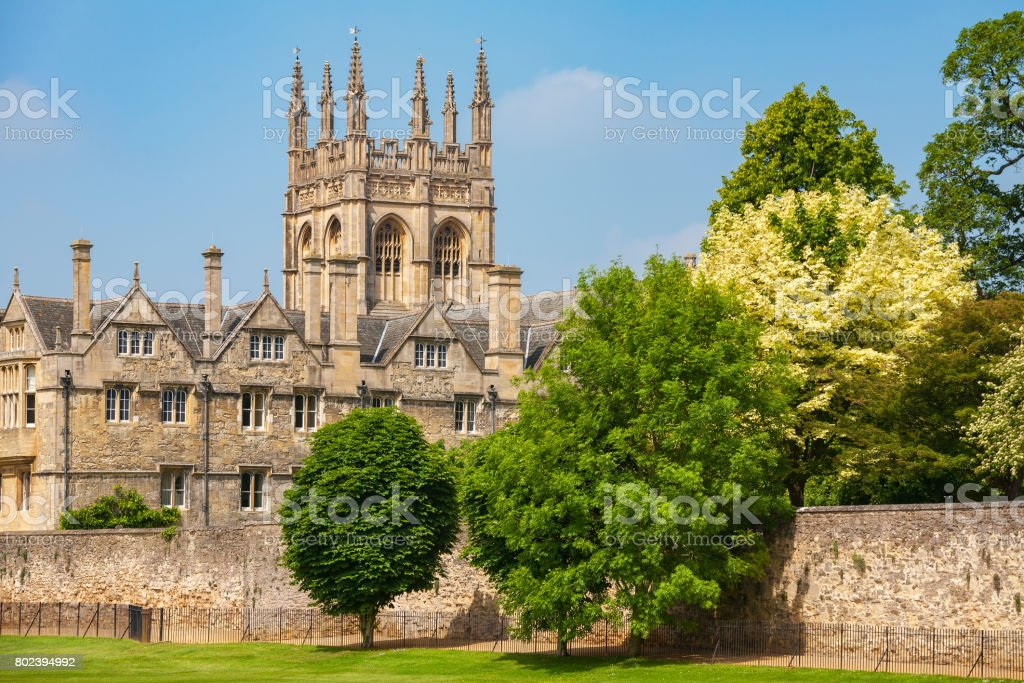 Merton College. Oxford, England stock photo