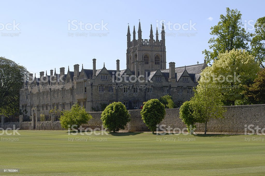 Merton College. Oxford. England stock photo