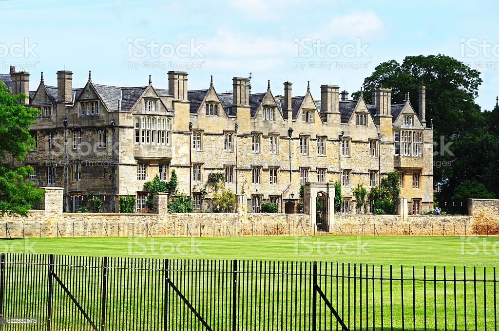 Merton College, Oxford. stock photo