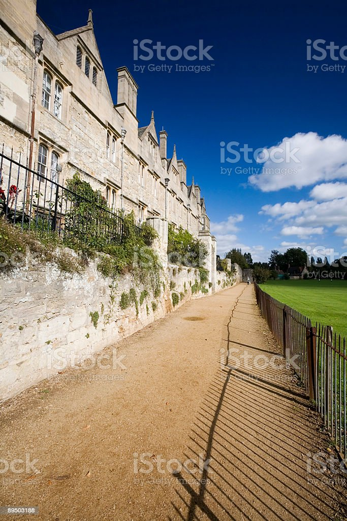 Merton College, Oxford stock photo
