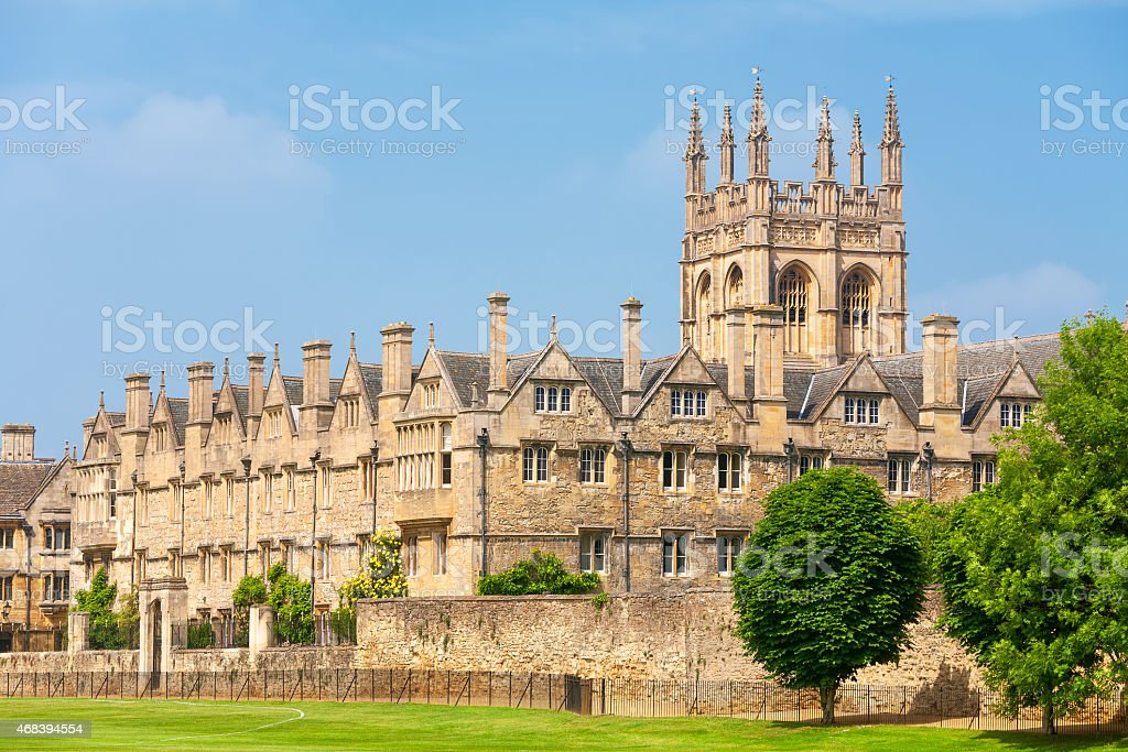 Merton College. Oxford, UK stock photo