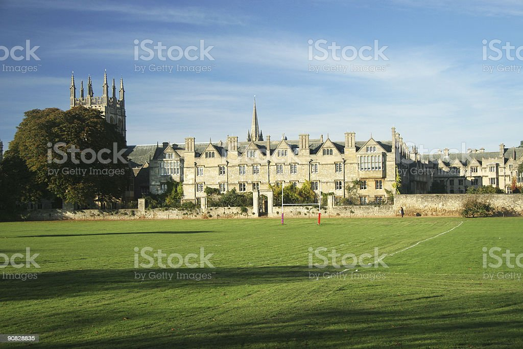 Merton College, Oxford University, England stock photo