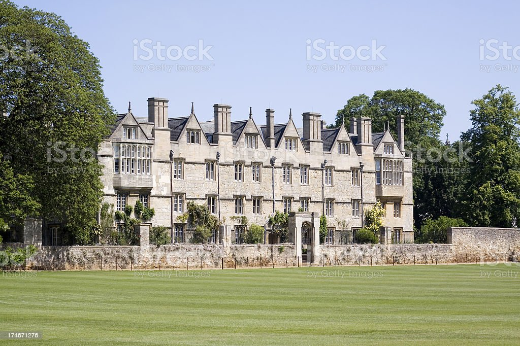 Merton College Oxford University stock photo