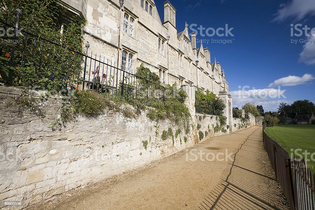 Merton College, Oxford University stock photo