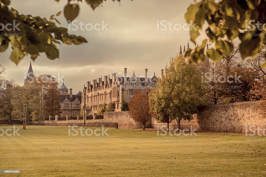 Merton college stock photo