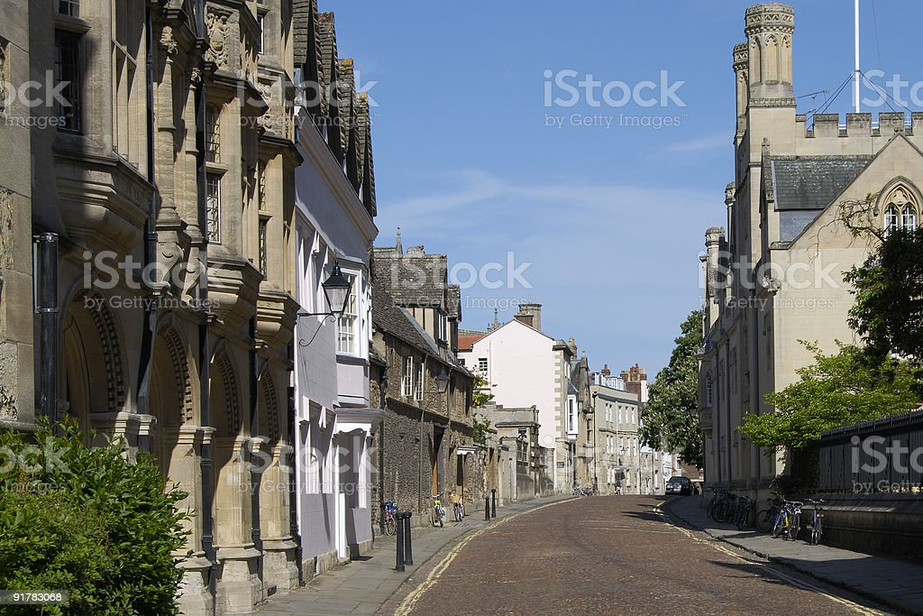 Merton Street. Oxford. England stock photo