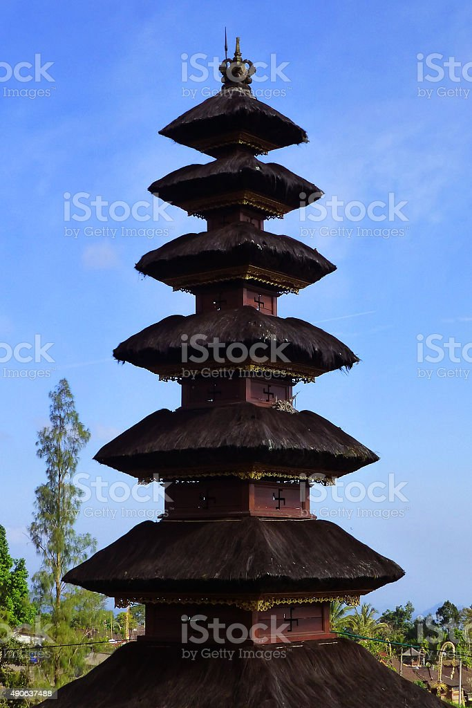 Meru Pagoda stock photo