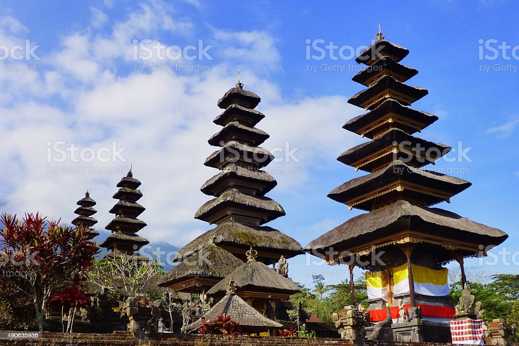 Meru Pagodas stock photo