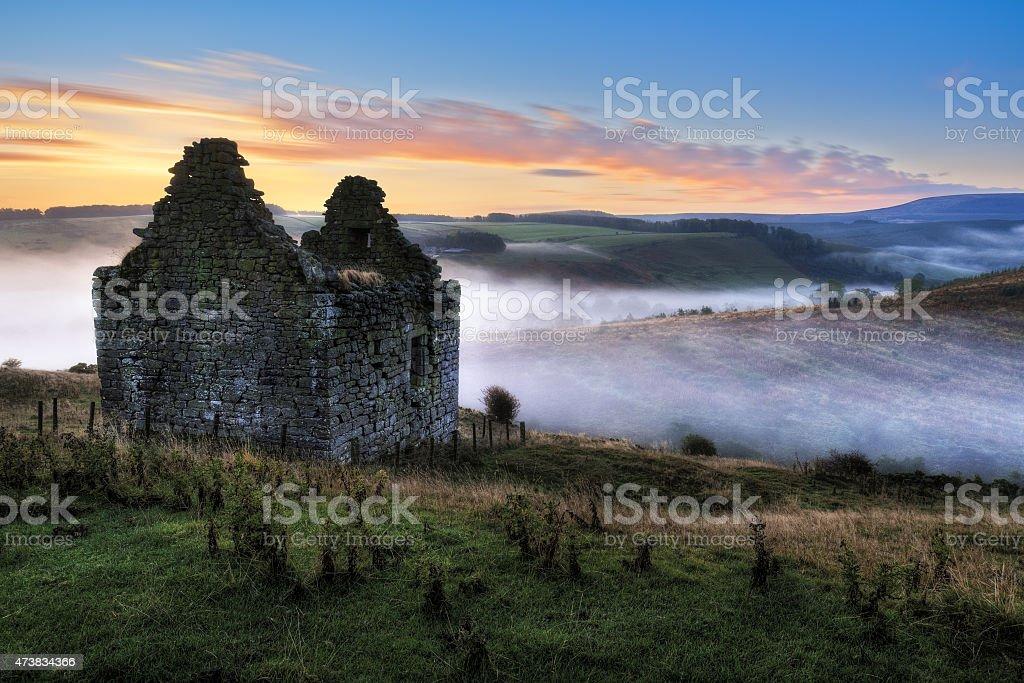 Mervinslaw Tower, Roxburghshire, Scottish Borders, UK stock photo