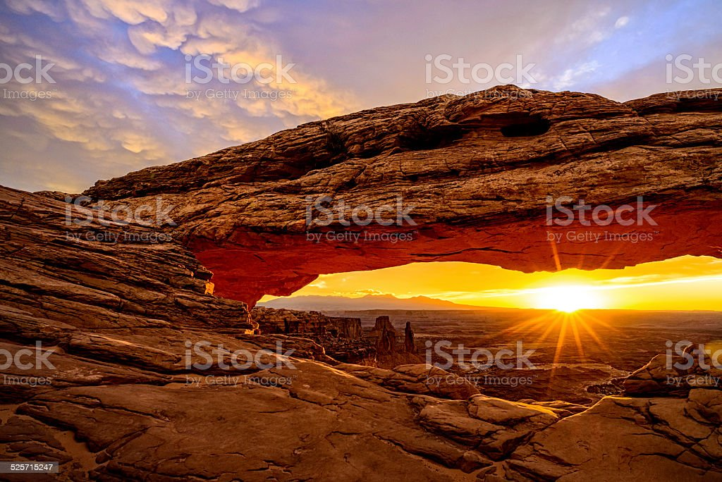 Mesa Arch at Sunrise stock photo