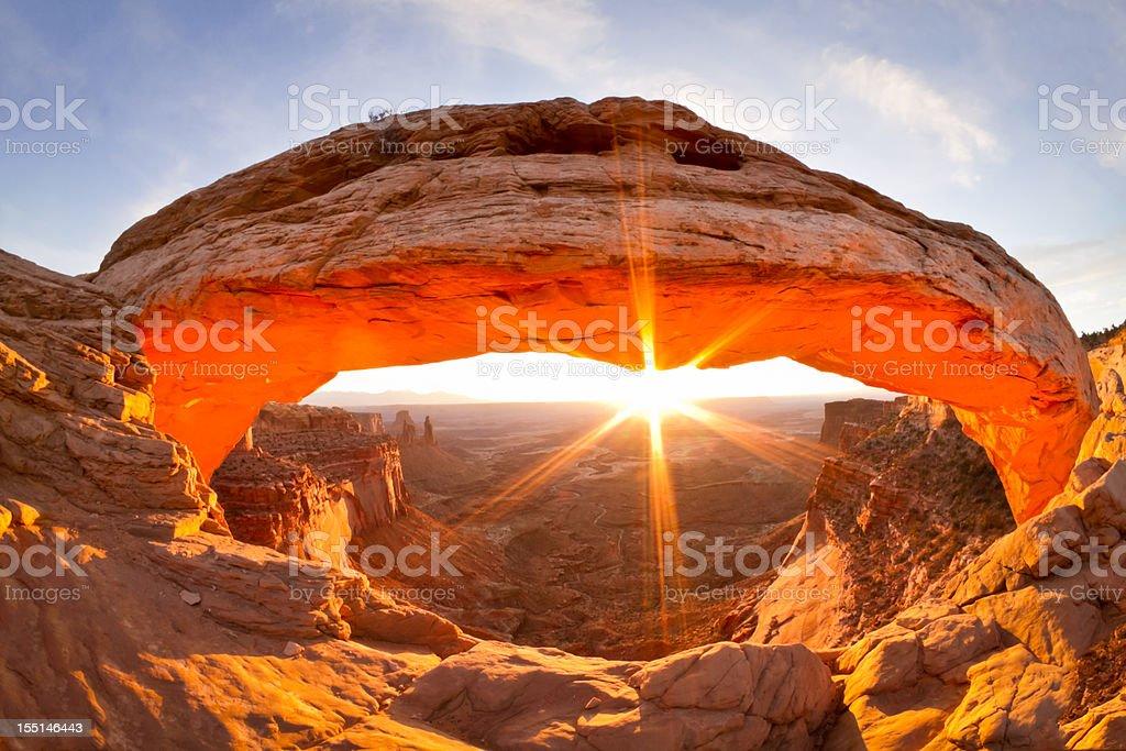 Mesa Arch, Canyon Lands Utah stock photo