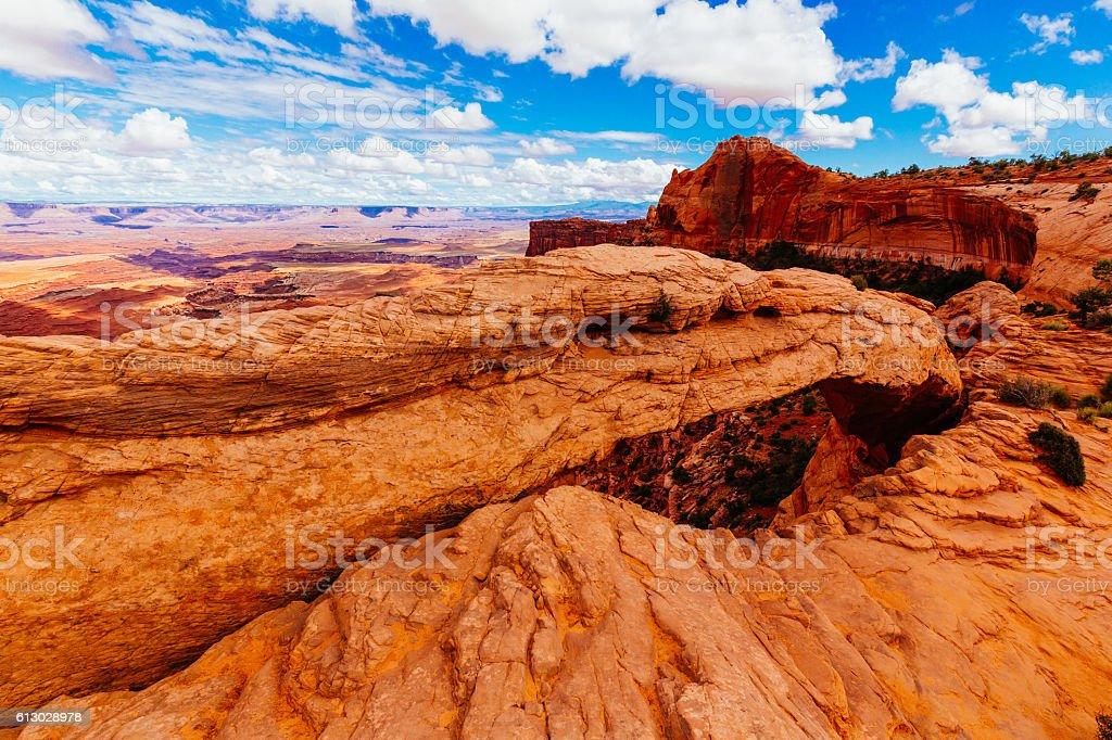 Mesa Arch, Canyonlands National Park near Moab, Utah, USA stock photo