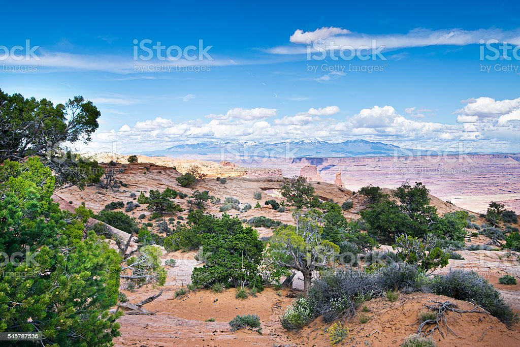 Mesa Arch in Canyonlands National Park in Utah stock photo
