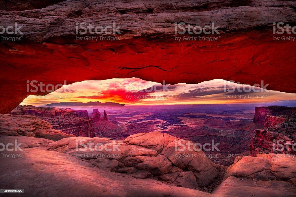 Mesa Arch Just Prior to Sunrise stock photo