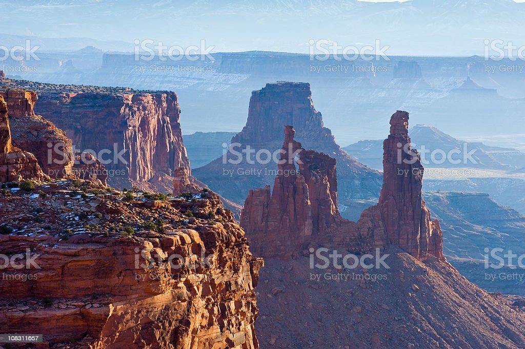Mesa Arch Landscape Canyonlands Moab Utah stock photo