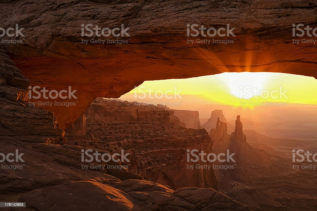 Mesa Arch Morning stock photo