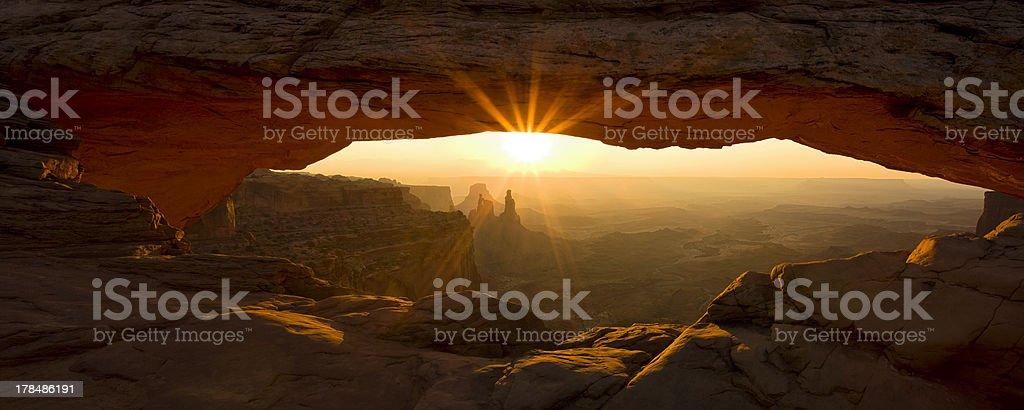 Mesa Arch Panorama stock photo