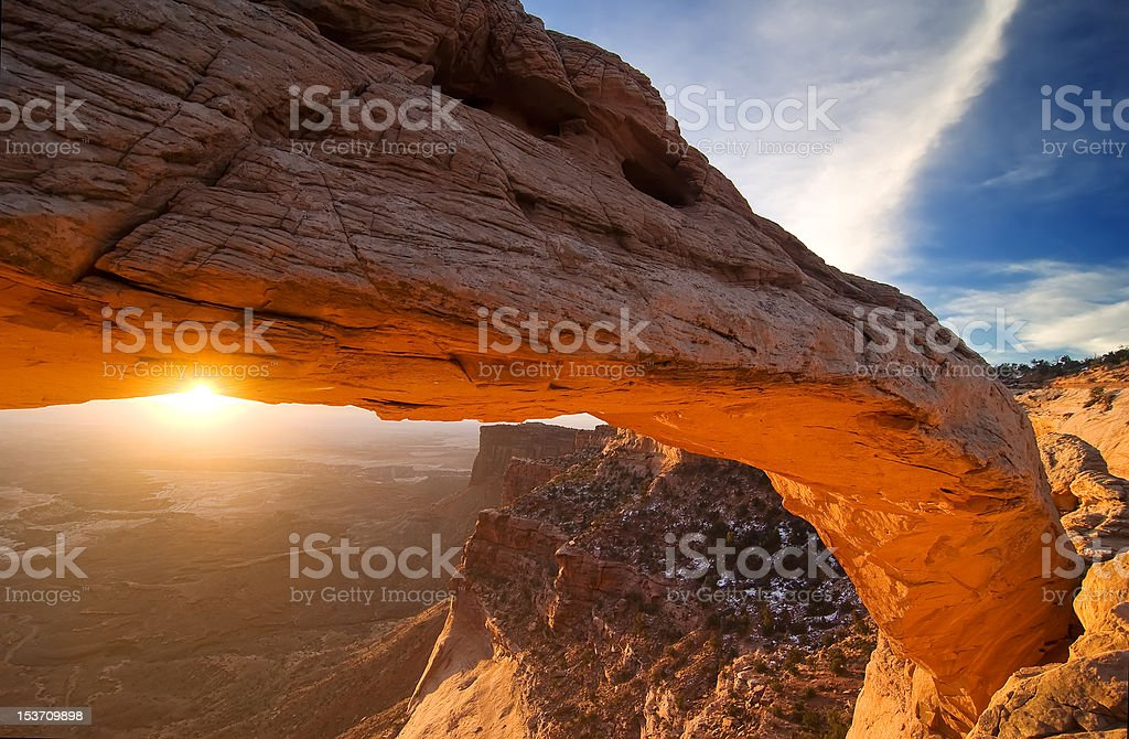 Mesa Arch Right Wing stock photo