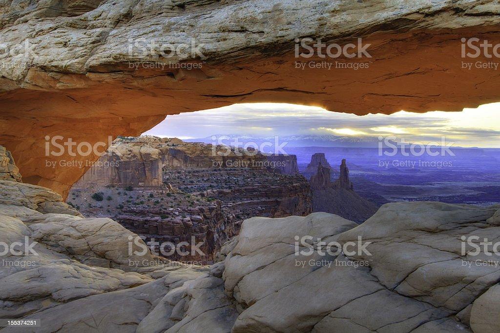 Mesa Arch Sunrise stock photo
