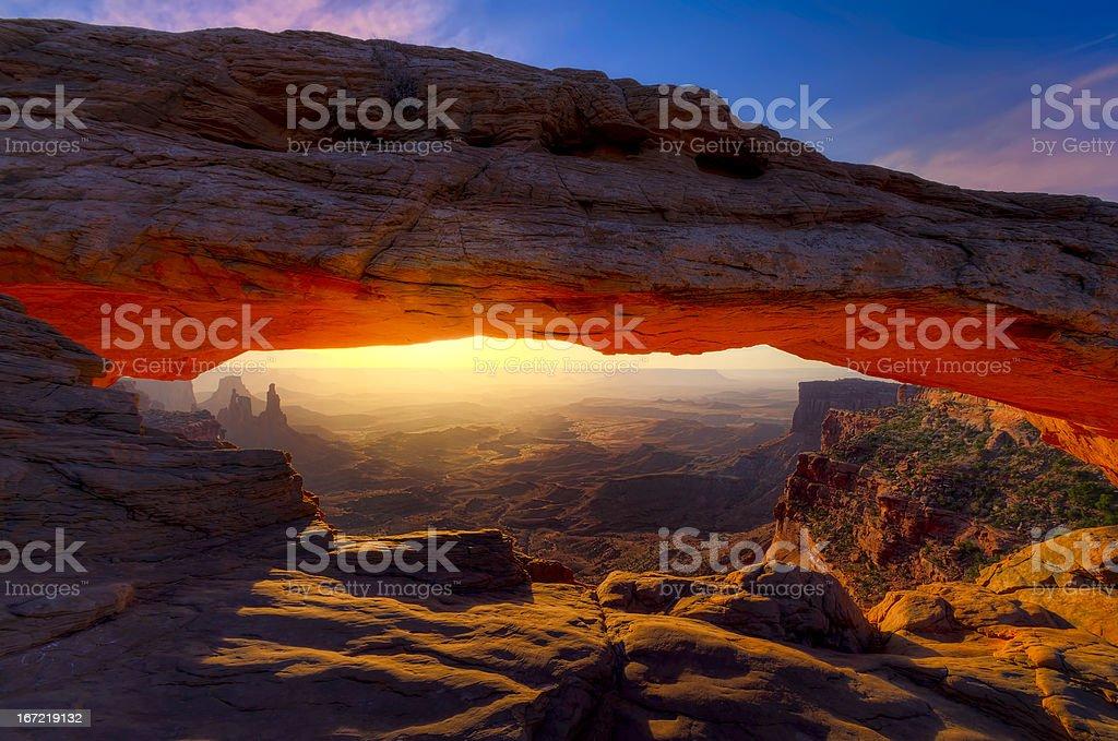 Mesa Arch Sunrise royalty-free stock photo