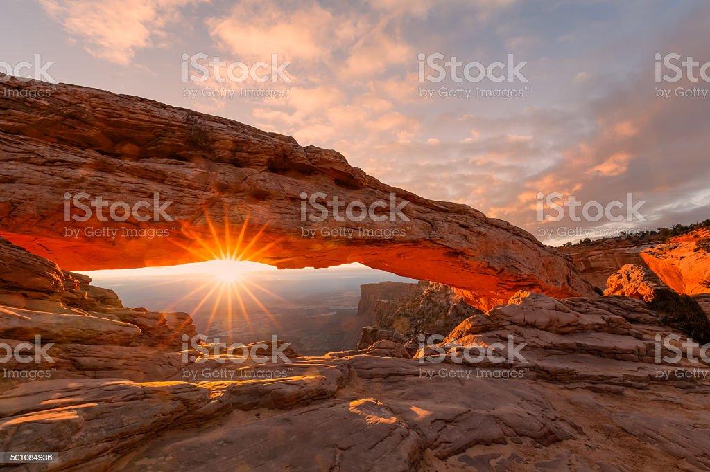 Mesa Arch Sunrsie stock photo