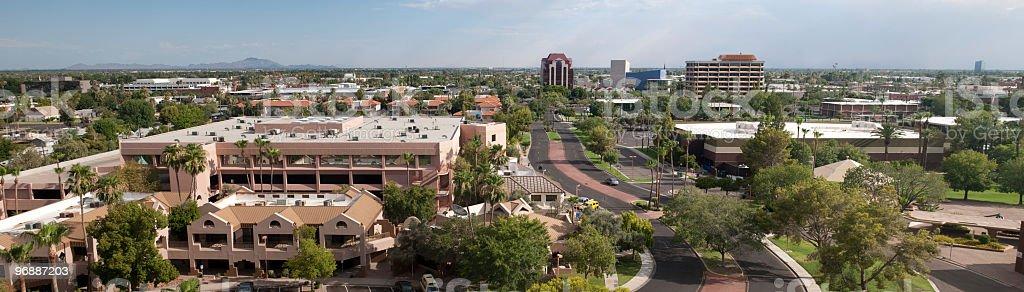 Mesa, Arizona downtown panorama stock photo
