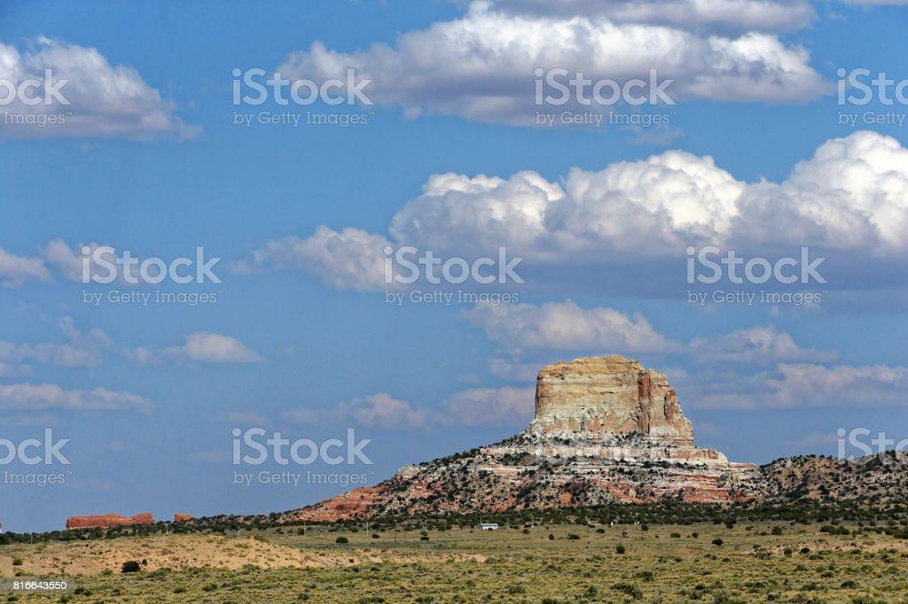 Mesa at Kayenta Monument Valley stock photo