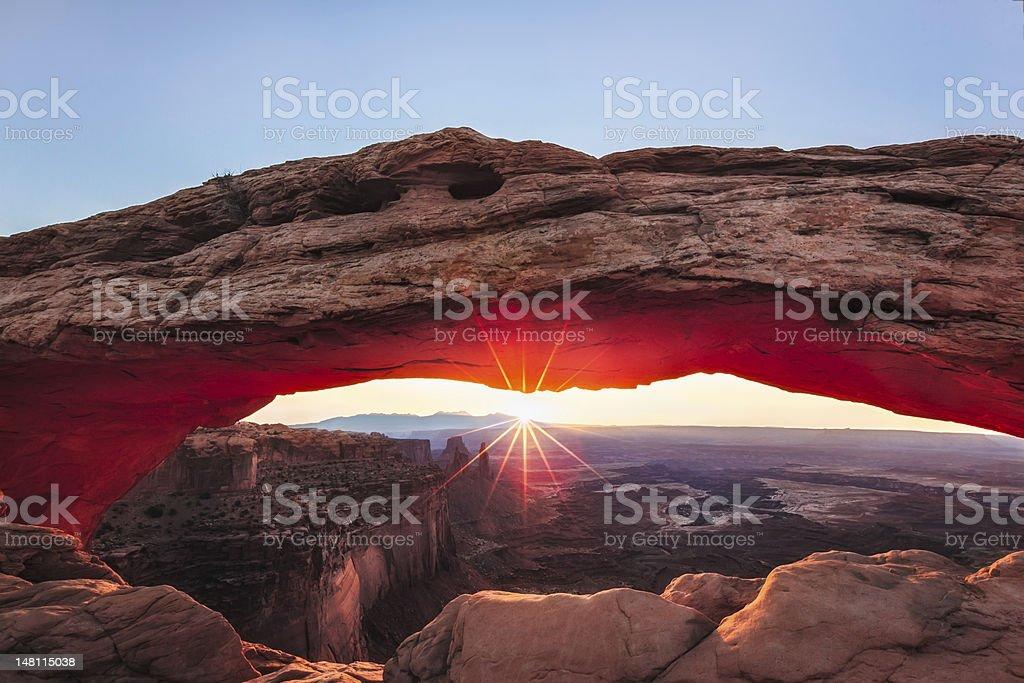 Mesa Morning, Canyonlands National Park stock photo