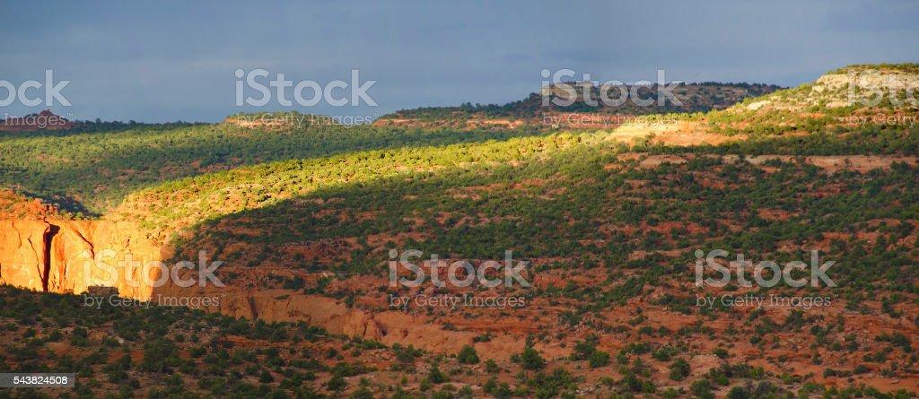 Mesa top light stock photo